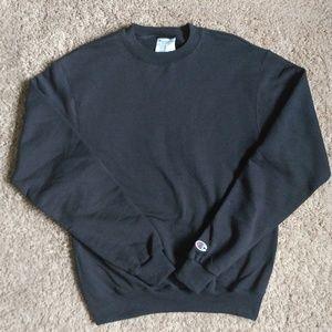 Champion Eco Authentic Black Crewneck Sweatshirt